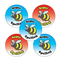 Super Spelling Stickers (30 Stickers - 25mm)