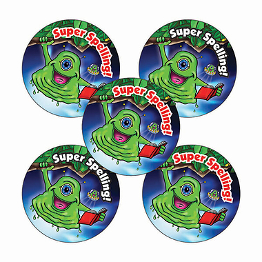 Super Spelling Stickers - Aliens (70 Stickers - 25mm)