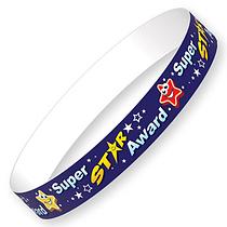 Super Star Award Wristbands (40 Wristbands - 220mm x 13mm) Brainwaves