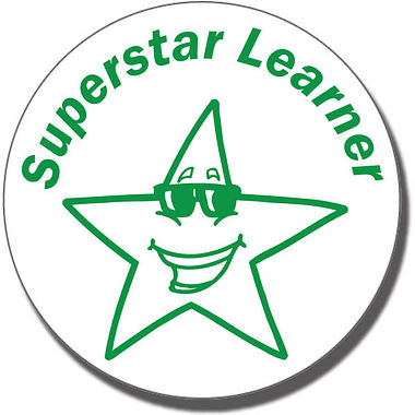 Superstar Learner Stamper - Green Ink (21mm)