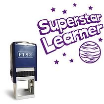 Superstar Learner Stamper - Purple Ink (25mm)
