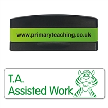 T.A. Assisted Work Stakz Stamper - Green Ink (44mm x 13mm)