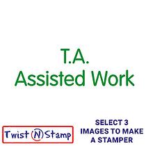 T. A. Assisted Work Stamper - Twist N Stamp