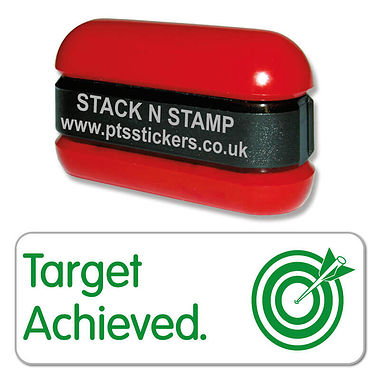 Target Achieved Stack & Stamp - Green Ink (38mm x 15mm)