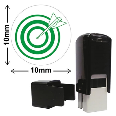 Target Mini Stamper - Green Ink (10mm)