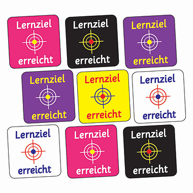 Target Reached Stickers (140 Stickers - 16mm)