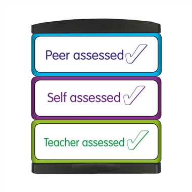 Teacher Peer Self Assessed 3-in-1 Stakz Stamper (44mm x 13mm per brick)