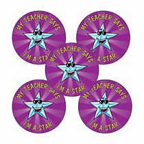 Teacher Says I'm a Star Stickers (70 Stickers - 25mm)