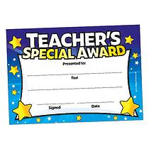 Teacher's Special Award - Blue (20 Certificates - A5)