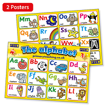 The Alphabet (2 Posters - A2 - 620mm x 420mm)