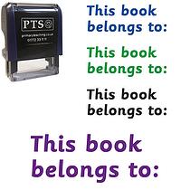 This Book Belongs to: Stamper (38mm x 15mm)