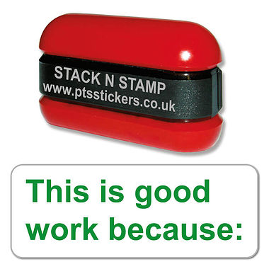 This is Good Work Because: Stack & Stamp - Green Ink (38mm x 15mm)