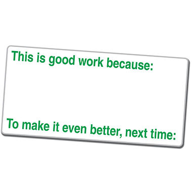 This is Good Work Because… Stamper - Green Ink (42mm x 22mm)