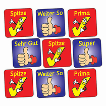 Thumbs Up & Ticks Stickers (140 Stickers - 16mm)