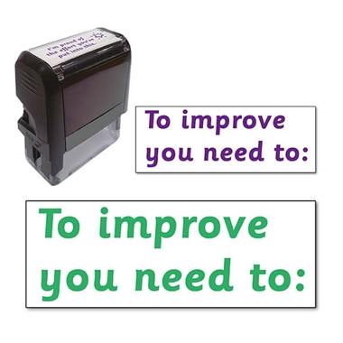 To improve you need to:  Stamper (38mm x 15mm)