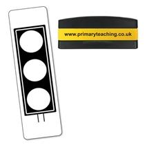 Traffic Light Stakz Stamper - Black Ink (44mm x 13mm)