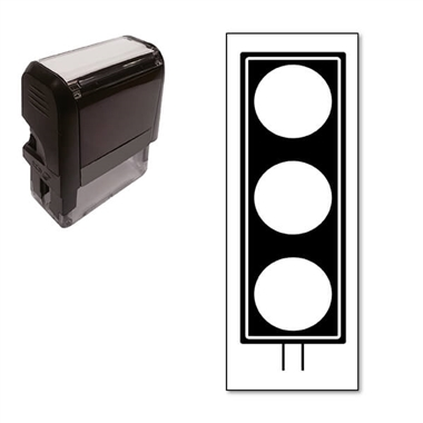 Traffic Light Stamper - Black Ink (38mm x 15mm)