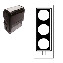 Traffic Light Stamper - Black Ink (38mm x 15mm)