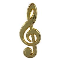 Treble Clef Badge - Gold (30mm x 11mm)