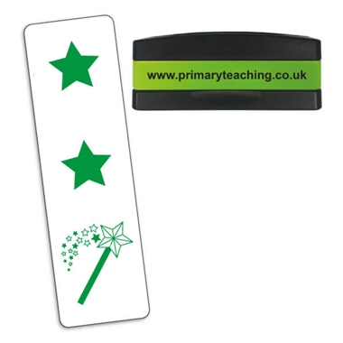 Two Stars and a Wish Stakz Stamper - Green Ink (44mm x 13mm)