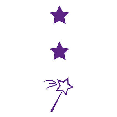 Two Stars and a Wish Stamper - Purple Ink (10mm x 35mm)