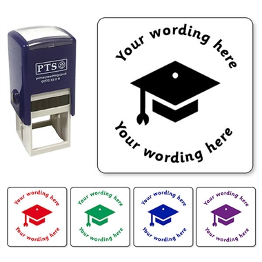 Personalised Mortarboard Stamper (25mm)