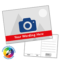 Upload Your Own Image Postcards with Text Band (A6)