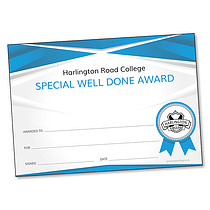 Upload Your Own Logo/Image Certificate - Image Right (A5)