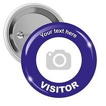 Upload Your Own Visitor Badges (10 Badges - 50mm)