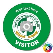 Upload Your Own Visitor Stickers (35 per sheet - 37mm)
