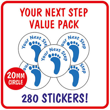 Value Pack of 280 Your Next Step 20mm Stickers