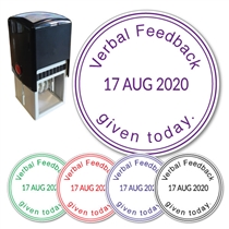 Verbal Feedback Given - Adjustable Date Stamper (38mm)