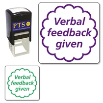 Verbal Feedback Given Stamper (20mm)