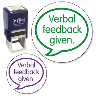Verbal Feedback Given Stamper (25mm)