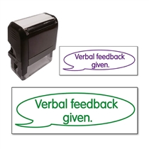Verbal Feedback Given Stamper (38mm x 15mm)