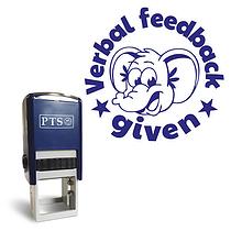 Verbal Feedback Given Stamper - Blue Ink (15mm) Brainwaves