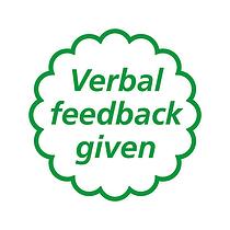 Verbal Feedback Given Stamper - Green Ink (25mm)