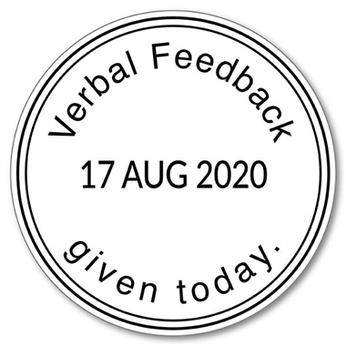 Verbal Feedback GivenToday Adjustable Date Stamper - Black Ink (38mm)