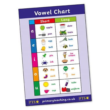 Vowel Chart Phonic Sounds Poster (A2 Poster)
