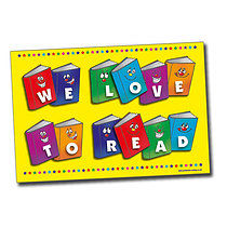 We Love to Read Poster (A2 - 620mm x 420mm)