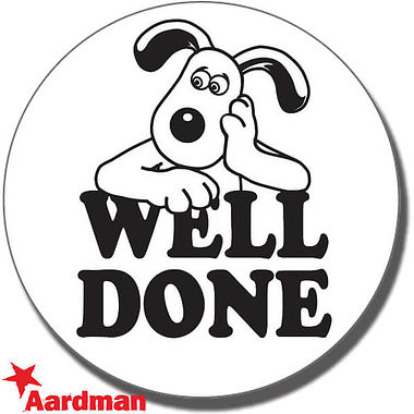 Well Done Gromit Stamper - Black Ink (21mm)