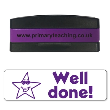 Well Done! Star Stakz Stamper - Purple Ink (44mm x 13mm)