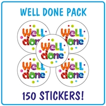 Well Done Stickers (150 Stickers - 25mm)