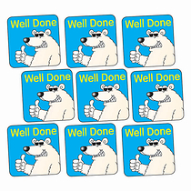 Well Done Stickers - Polar Bear (140 Stickers - 16mm)