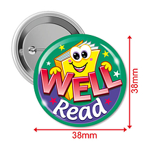 Well Read Badges (10 Badges - 38mm) Brainwaves