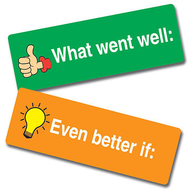 What Went Well / Even Better If Stickers (56 Stickers - 46x16mm)