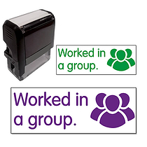 Worked in a Group Stamper (38mm x 15mm)