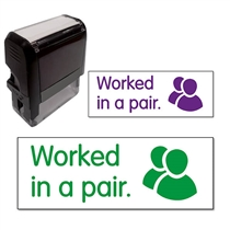 Worked in a Pair Stamper (38mm x 15mm)