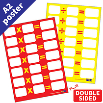 Write & Wipe Double Sided Multiplication & Division Poster (A2 - 620mm x 420mm)