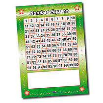 Write & Wipe Number Square Poster (A1 - FREE PEN)